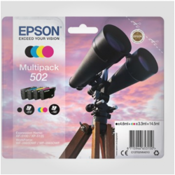 Epson T502 Sæt 4. stk (BK,C,M,Y), Originale patroner
