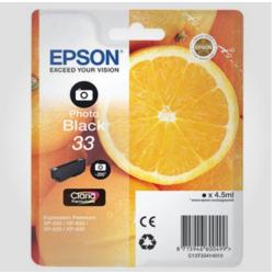 Epson 33 Ph. BK (Claria), Original Blækpatron