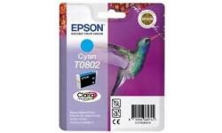 Epson T0802 cyan, original blækpatron